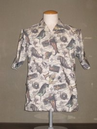 "FREEWHEELERS (フリーホイーラーズ) ""SHORT SLEEVE OPEN-NECKED SHIRTS"" col. ANCIENT MONSTERS PRINT"