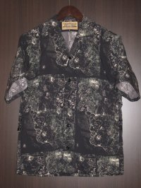 "FREEWHEELERS (フリーホイーラーズ) ""SHORT SLEEVE OPEN-NECKED SHIRTS"" col. ANCIENT MAP MONOTONE PRINT"