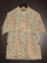"FREEWHEELERS (フリーホイーラーズ) ""SHORT SLEEVE OPEN-NECKED SHIRTS"" col. ANCIENT MAP COLOR PRINT"
