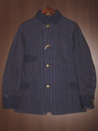 "FREEWHEELERS (フリーホイーラーズ) ""GOLDEN SPIKE WORK COAT"" col. INDIGO WABASH STRIPE"