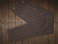 FREEWHEELERS(フリーホイーラーズ) 〜 GANDY DANCER OVERALLS〜 col. GRAINED DARK BROWN STRIPE