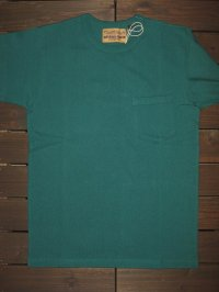 "FREEWHEELERS (フリーホイーラーズ) HEAVY WEIGHT SET-IN SHORT SLEEVE""POCKET T-SHIRTS"" col.TEAL GREEN"