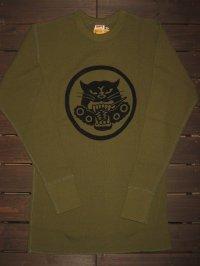 "FREEWHEELERS(フリーホイーラーズ) 〜THERMAL LONGSLEEVE〜""U.S.ARMY TDB 801st SQ"" col. OLIVE"