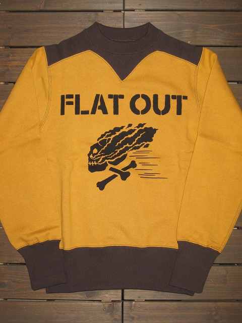 "画像1: FREEWHEELERS (フリーホイーラーズ)   ""ATHLETIC SWEAT SHIRT"" 〜FLAT OUT〜 col. OLD GOLD×SOOT BLACK"